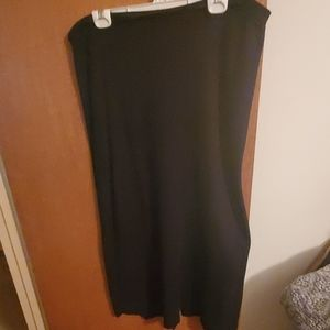 Laura Scott black knit skirt size XL